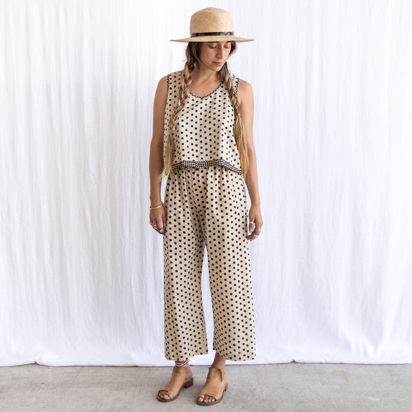 Ahilya Pant - Cream Dot