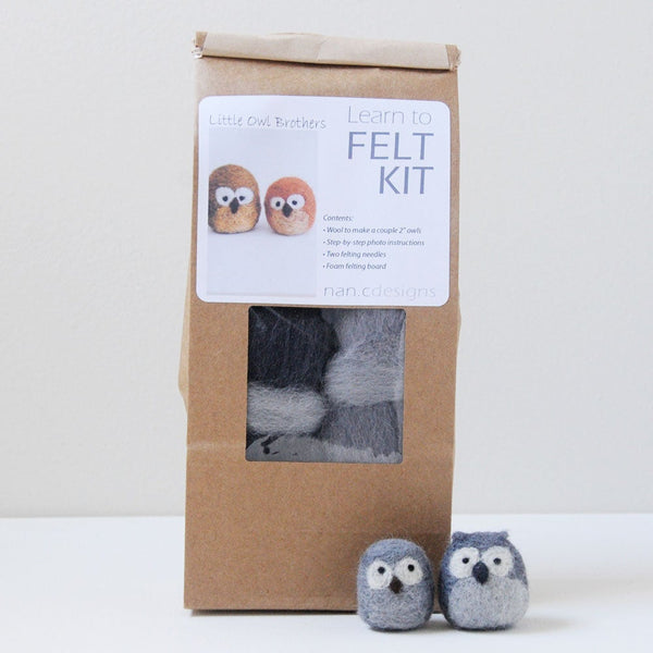 Learn to Felt Kit - Little Owl Brothers