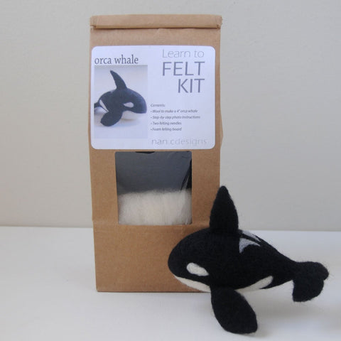 Learn to Felt Kit - Orca Whale