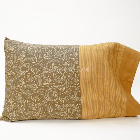 Pillow Case Dabu Print Ochre