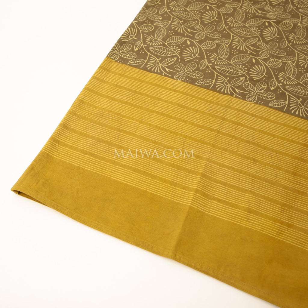 Square Tablecloth Dabu Print Ochre