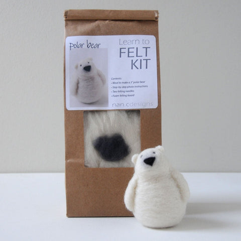 Learn to Felt Kit - Polar Bear