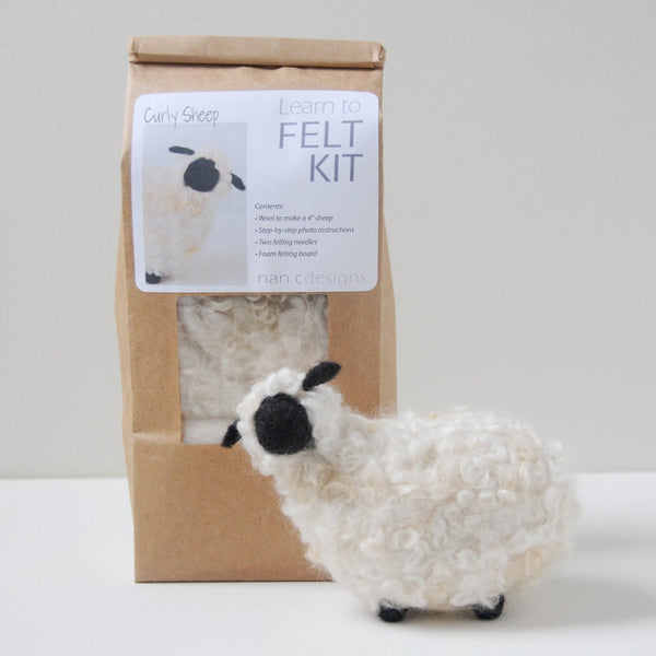 Learn to Felt Kit - Curly Sheep