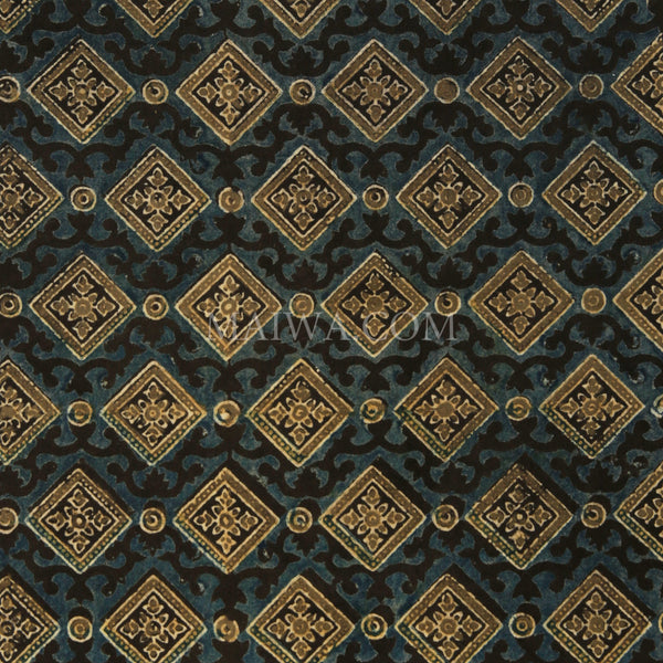 Organic Cotton Tablecloth - Ajrakh Diamond