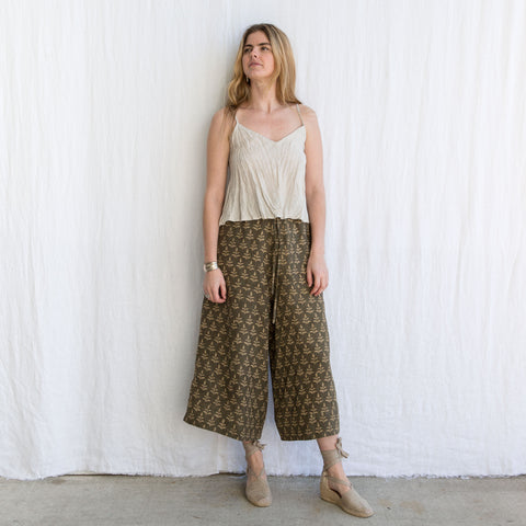 Tulsi Pant Linen - Olive