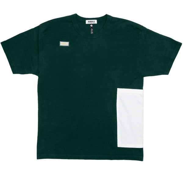 OVERSIZED POCKET T (green/white)
