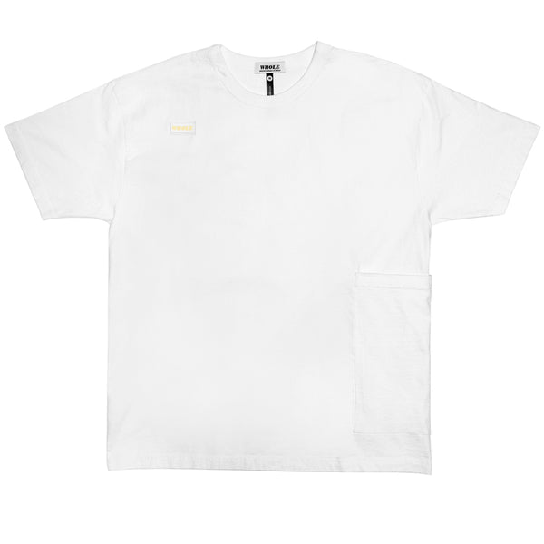 OVERSIZED POCKET T (white/white)