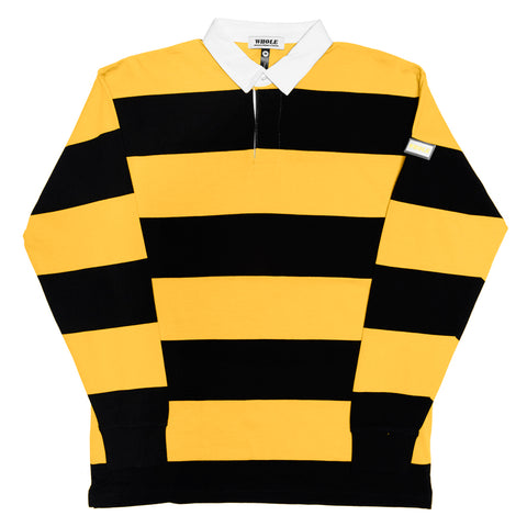 STRIPED RUGBY (black/mustard)