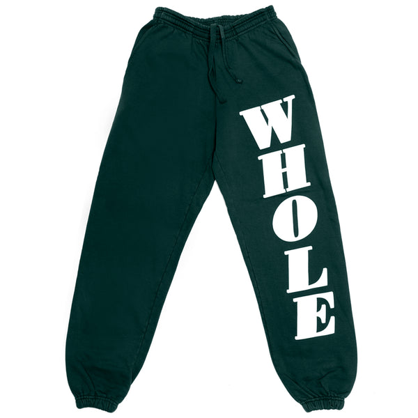 WHOLE sweatpants (green)