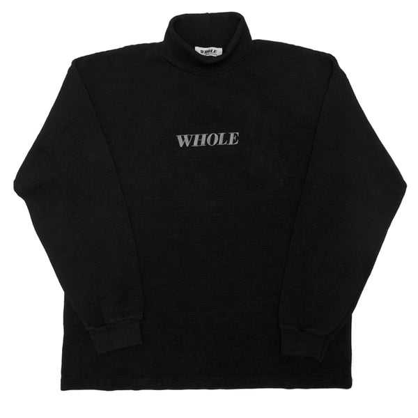 THERMAL LOGO TURTLENECK (black)