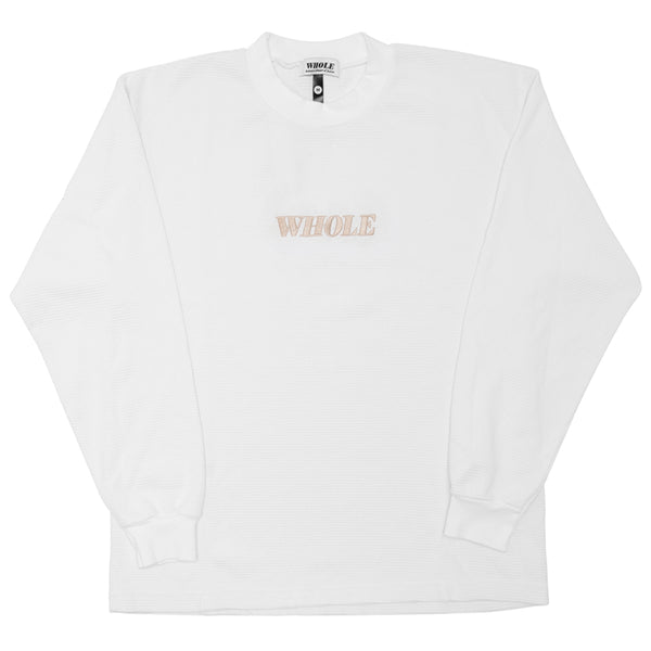 THERMAL LOGO LONG SLEEVE (white)