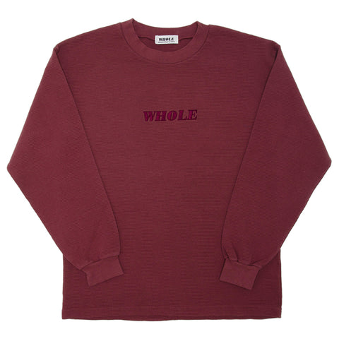 THERMAL LOGO LONG SLEEVE (wine)
