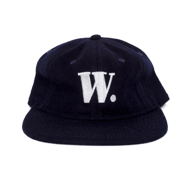 W. wool cap (navy)