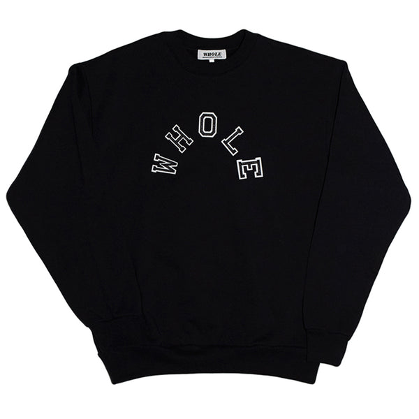 PATCHWORK LOGO SWEATER (black)