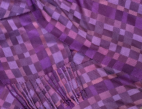 Purples and Mauve Bamboo Scarf <br> Twill Blocks