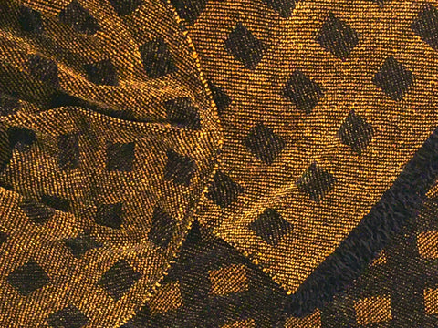 Black and Bronze Chenille Scarf <br> Floating Squares