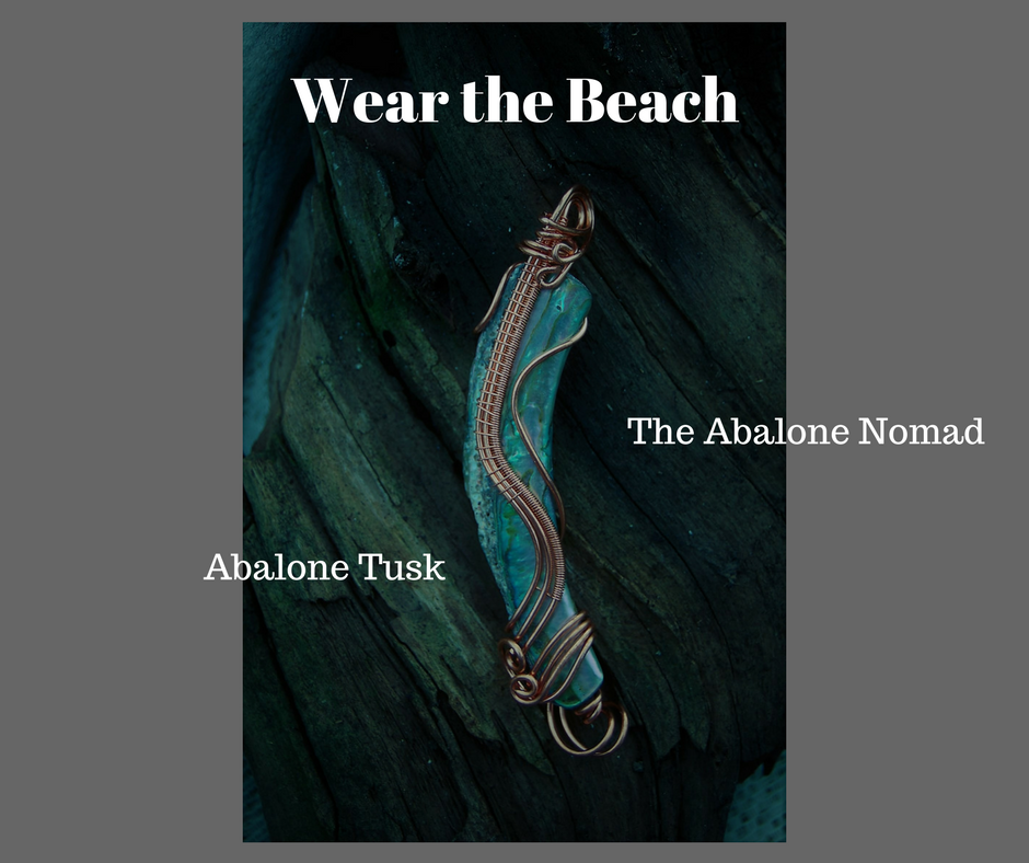 Abalone Tusk Necklace with Wire Weaving