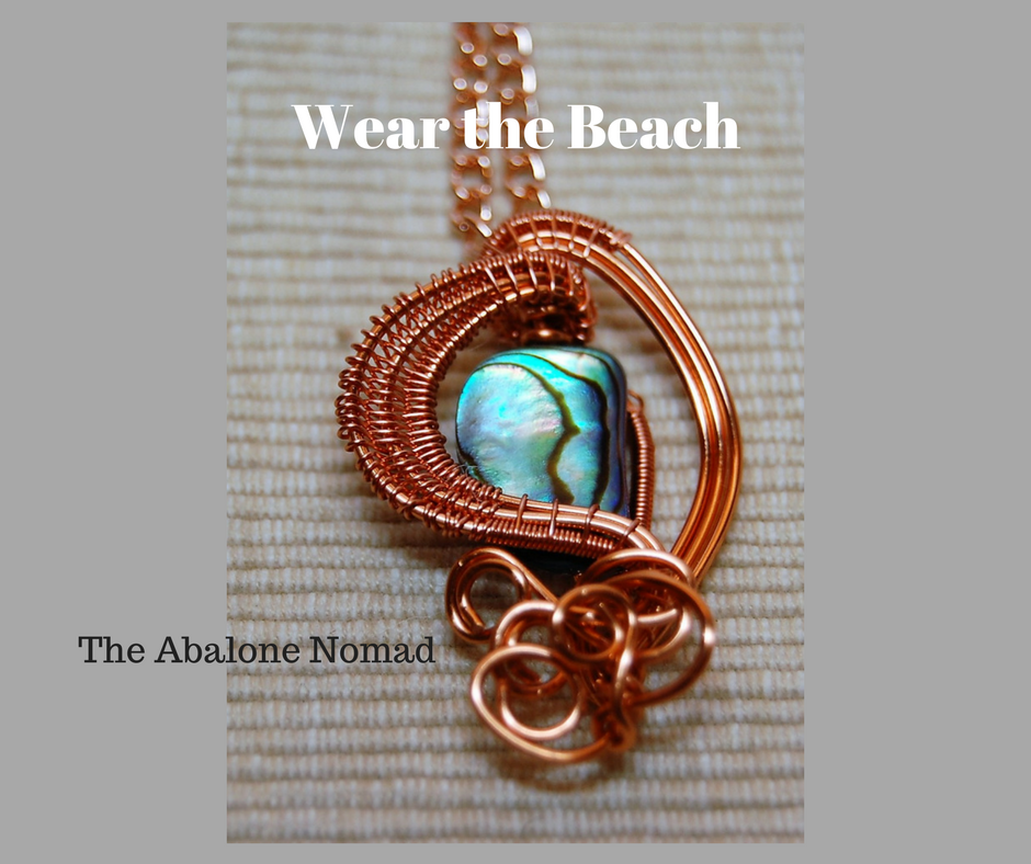 Wire Woven Abalone Necklace