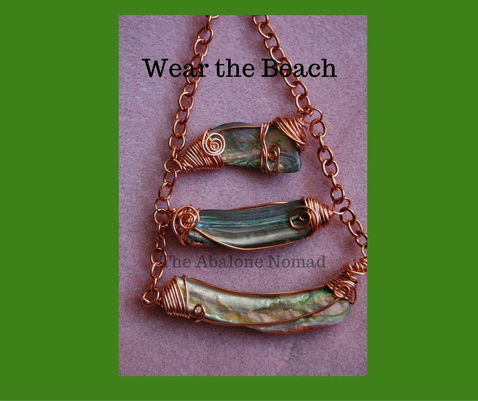 Three tiered Abalone Necklace