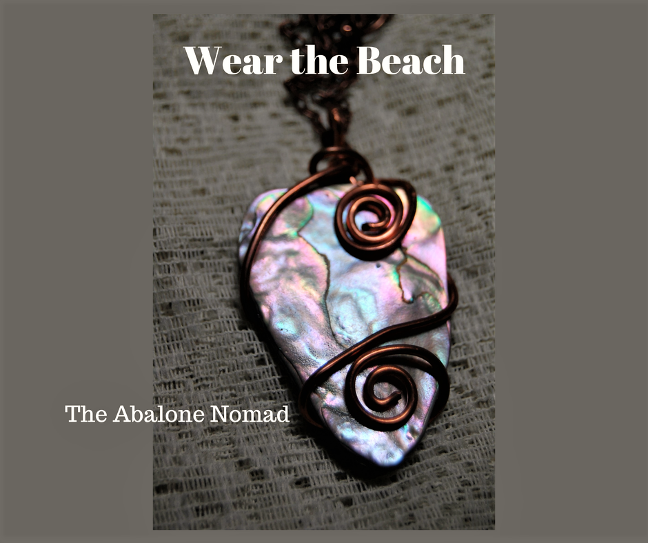Wire Wrapped Abalone Focal Necklace