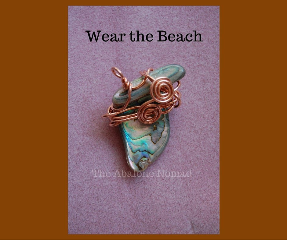 Abalone Pendant with Copper Wire