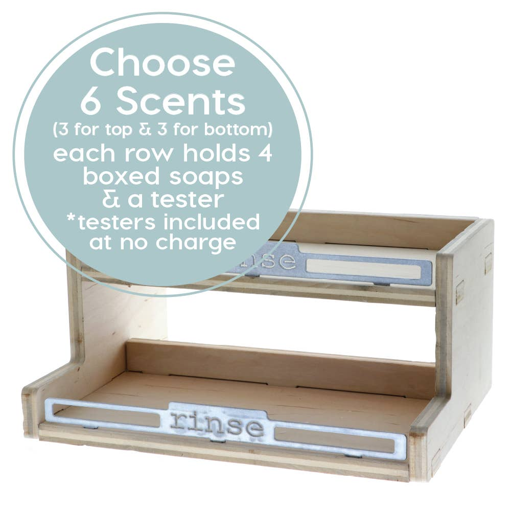 Rinse Bath Body Inc - Soap Display - 6 Scents