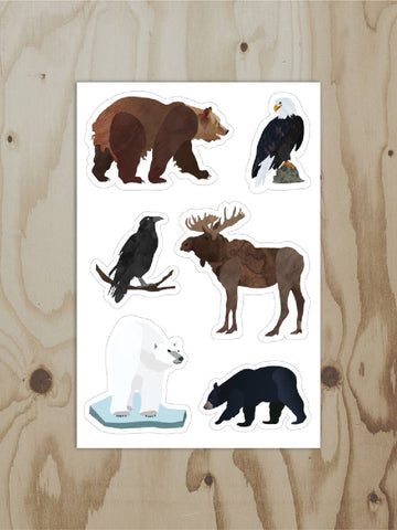 Wren and the Raven - Alaskan Animal Sheet Sticker