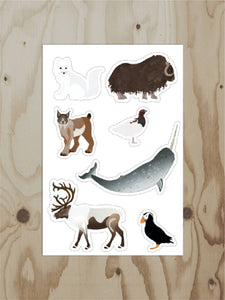 Wren and the Raven - Alaska Tundra Sheet Sticker