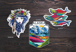 *SALE*  Pack of 3 Vinyl Stickers