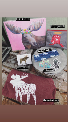 Gift Set Moose Themed
