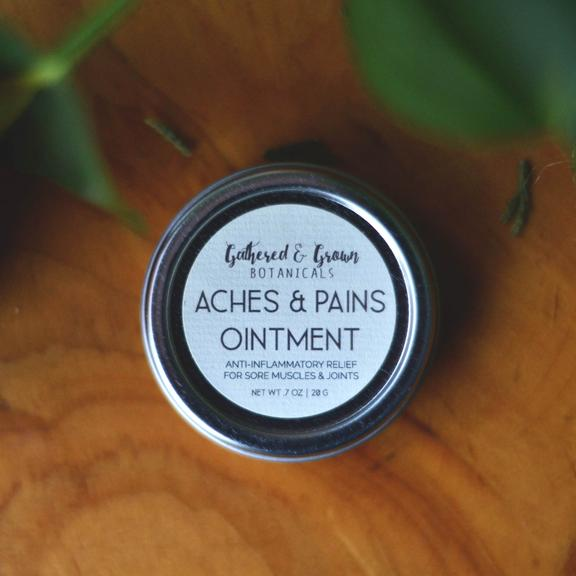 Gathered and Grown Botanicals - .7oz Aches & Pains Ointment
