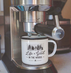 Enamel Co. - 12oz Life Is Good in the Woods Camp Mug
