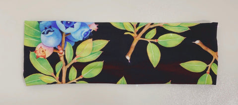 Blueberries and Leaves Headbands