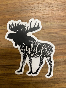 Moose Vinyl Sticker