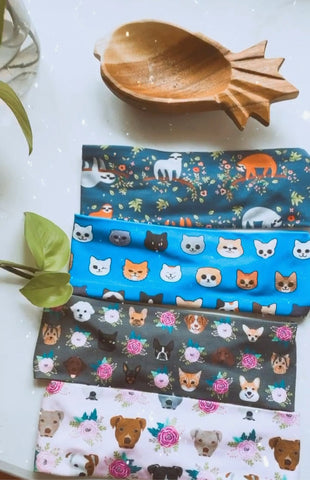 Set of 4 Cute Puppy and Kitten Headbands