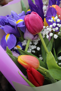 Iris and Tulip Bouquet