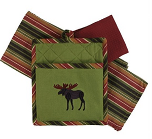 Moose Embroidered 3Pc Kitchen Gift Set