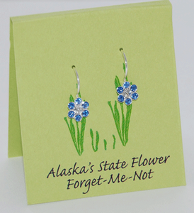 Forget Me Not Flower Earrings on French Wires