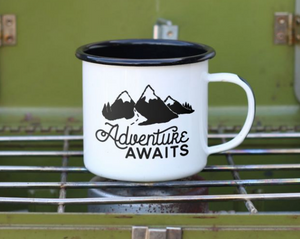 Enamel Co. - 12oz Adventure Awaits Outdoor Camping Mug