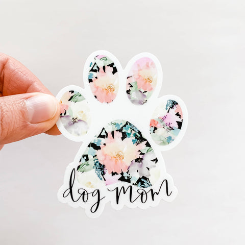 Wildflower Paper Company - Dog Mom Black Floral Sticker