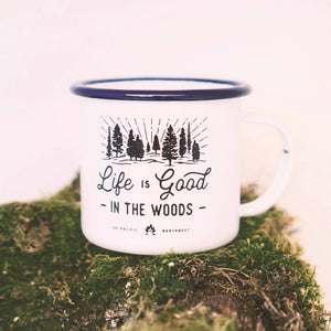 Enamel Co. - 16oz Life Is Good in the Woods Camp Mug