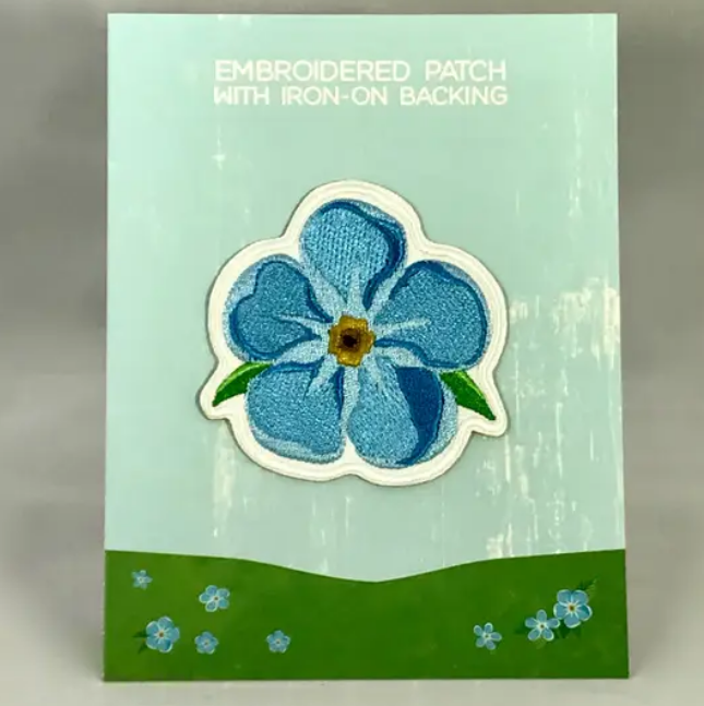 Forget-me-not Iron-on Patch