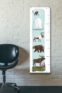 "Wren and the Raven - 15"" x 48"" Growth Chart"