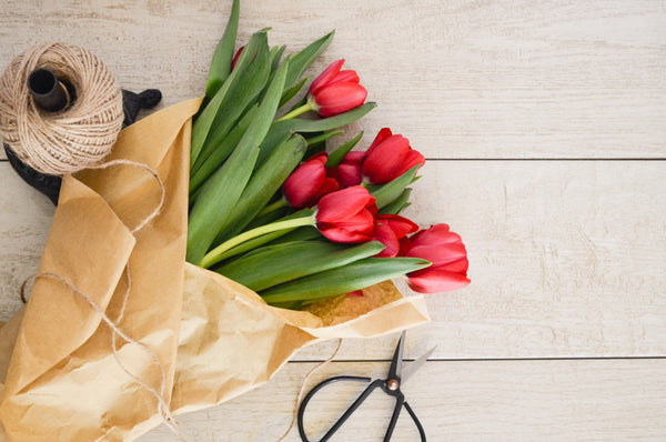 Easter Tulips Bouquet and Gift Bundle