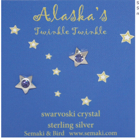 Twinkle Sterling Silver Alaska Earrings