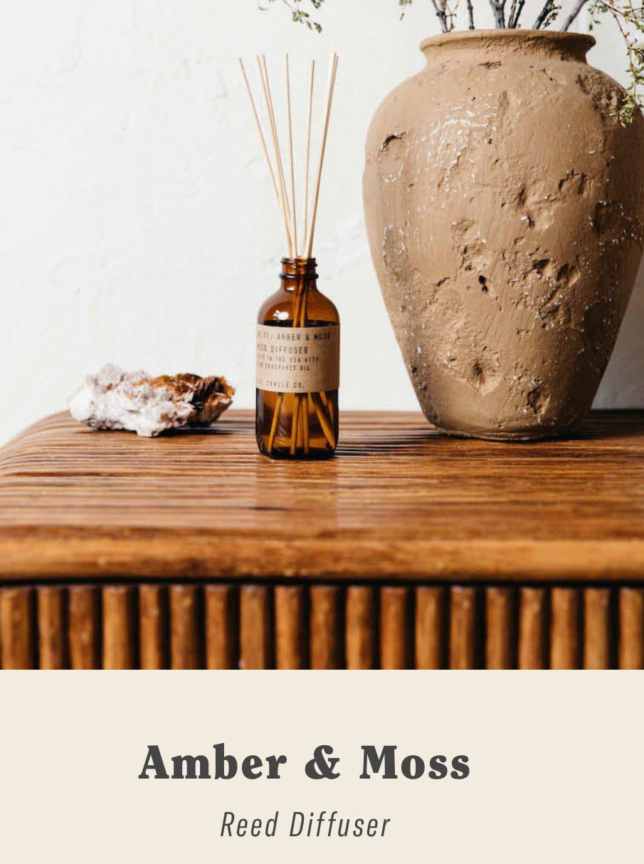 P.F. Candle Co. - Amber & Moss - 3.5 oz Reed Diffuser