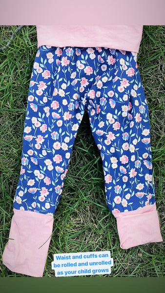 Midnight Rose Grow-with-me Pants