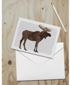 Note Card Moose