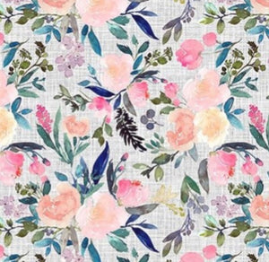 Watercolor Floral Face Masks, poplin cotton