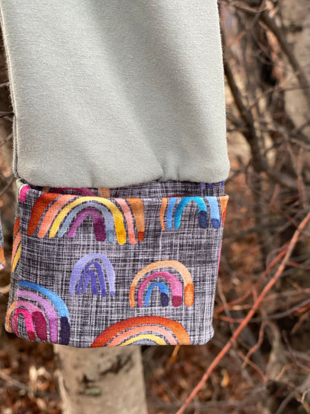 Neutral gender Rainbow Grow-with-me Pants